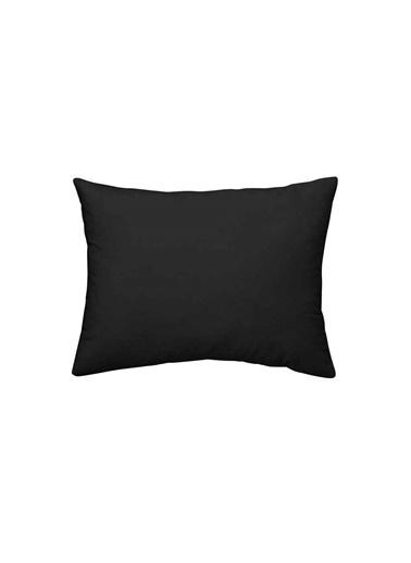 Maki %100 Pamuklu 2 Adet 50x70 Yastık Kılıfı Siyah Siyah